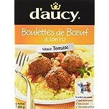 d'aucy Boulettes de Bœuf Sauce Tomate/Riz 300 g - Lot de 4