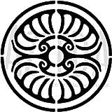 A5 'Kreis Georgisch' Wandschablone / Vorlage (WS00003572)