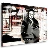 Johnny Cash Leinwand , Bild fertig auf Keilrahmen ! Pop Art Gemälde Kunstdrucke, Wandbilder, Bilder zur Dekoration - Deko. Musik Stars Kunstdrucke