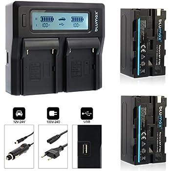NP-FM70 original vhbw® DUAL Ladegerät mit Display für SONY NP-FM55H