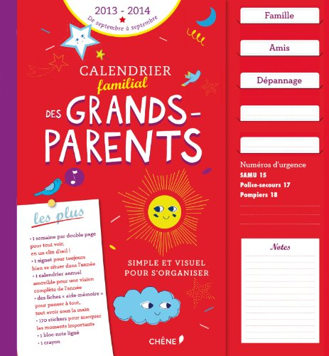 Calendrier familial des grands-parents
