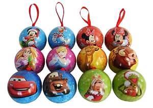 Disney baumkugeln mit schokolade gef llt 24 st ck 24x 30g lebensmittel getr nke - Disney weihnachtskugeln ...