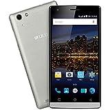 iRULU Victory 4 V4 FDD-LTE 4G Smartphone, 5 Zoll(12,7cm) IPS Display, Qualcomm MSM8909 Quad-Core Prozessor, 8GB interner Speicher, 1GB RAM, Android 5.1 Lollipop, 8MP/2MP Dual-Kameras, Dual SIM, silber