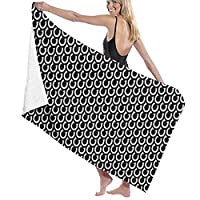 TZ Charming Premium Bath Towels Wash Cloths for Home, Hotel, Spa, Pool - White Horseshoes Towels, Ultra Soft Shower & Bath Towel Extra Large Ultra Absorbent Women