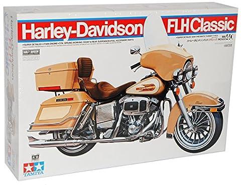 Harley Davidson FLH Classic 16040 Kit Bausatz 1/6 Tamiya Modell Motorrad Modell Auto (Bausatz Harley Davidson)