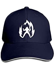 feruch foode Dragon Ball Z Saiyan simple Logo Peaked Gorra de béisbol Gorra Hats Marina