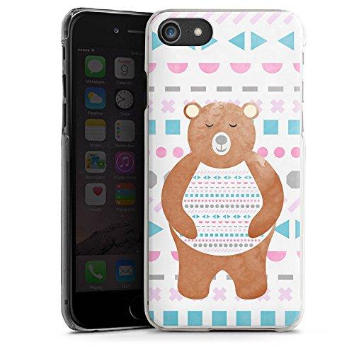 Apple iPhone X Silikon Hülle Case Schutzhülle Bär Muster Bärchen Hard Case transparent