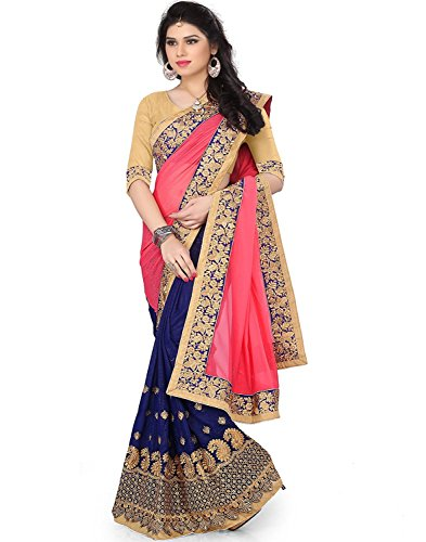 SareeShop Women's Georgette saree for women latest design 2018 with Blouse Piece...