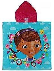 Doctora Juguetes 2203001229 - Poncho toalla de playa para niños, color azul, capucha color rosa