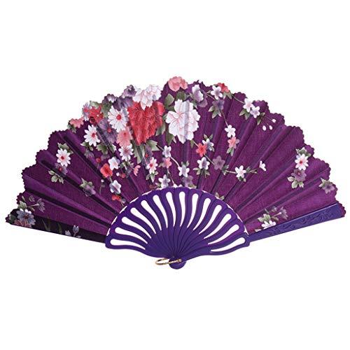 Kviklo Handfächer Folding Fächer Vintage Flower Geblümt Kunststoff Kostüm Party Hochzeit Chinesisch/Japanisch Fan Home - Definition Kostüm Party
