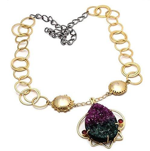dual-shade-druzy-pendant-necklace-multi-color-necklace-emerald-green-and-deep-purple-statement-neckl