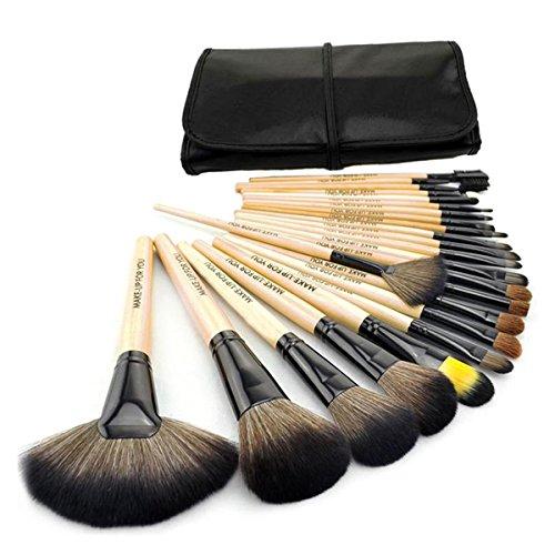 24 Stück Make-up Pinsel (24 Stücke professionellen Kosmetik Make-up Pinsel Set mit mit rosa Tasche)