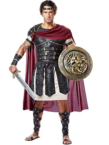 Mens Roman Gladiator Warrior Soldier Fancy Dress Outfit Costume, Multi, small