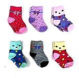 #2: Krystle Boy's|Girl's Kids Cotton Printed Socks (Pack Of 6)