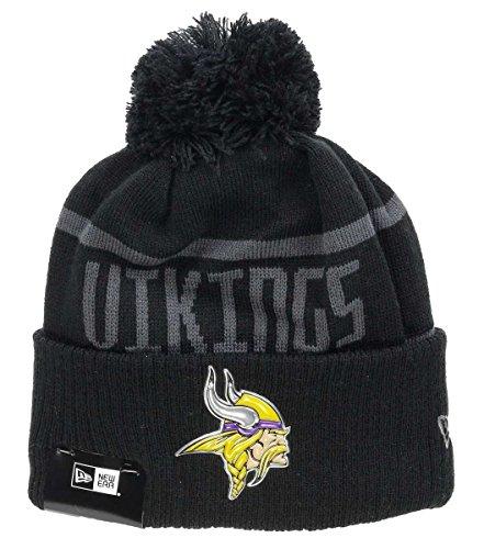 New Era - Minnesota Vikings - Beanie - NFL 2017 Black Collection - Black, Black, Einheitsgröße