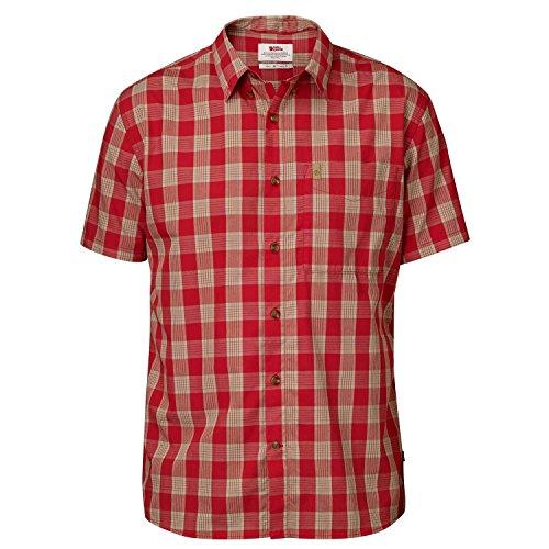 Fjällräven Herren Övik Button Down Shirt SS Oberhemd, Deep Red, S