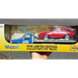 Mobil - 1998 Limited Edition 1:24 Scale Die-Cast Collector's Flatbed Truck with Race Car by MOBIL GAS