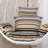 JANRON Sedia da Basket sospesa Cuscini, Swing Chair Cushions Courtyard Giardino Balcone Sedia di Vimini Cuscino Sedia Stuoia di Tatami Piano Staccabile - 56CM(22INCH)
