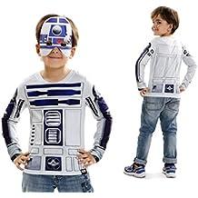 Disfraz camiseta de Star Wars R2d2 original de Carnaval para niño de 2-4 años de microfibra - Lola Home