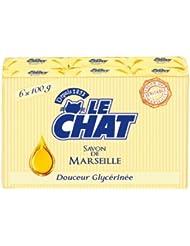 Le Chat Pack de 6 Savons de Marseille Solide Douceur Glycérinée 100 g
