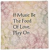 3drose LLC 20,3x 20,3x 0,6cm Shakespeare Love Zitat auf Vintage Musik Blatt Mauspad (MP _ 151156_ 1)