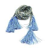 HuntGold 1 Paar Fenster Vorhang Gardinen Dekorativ Band Binden Seil Troddel Franse Tie-Rücken (Blau)