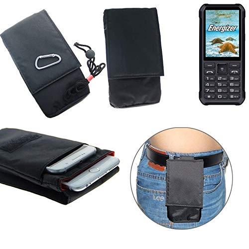 K-S-Trade Für Energizer H20 Gürteltasche Brusttasche Brustbeutel schwarz Travel Bag Travel-Case vertikal Schutz vor Diebstahl/Raub für Energizer H20