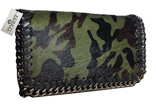 fereti-borsa-pelle-pelliccia-verde-nero-militare-camuffamento-esercito-army-donna-moda-2-in-1