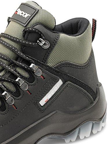 Click Workwear mens Traxion cerata nubuck anti statico/antiscivolo di sicurezza da lavoro Black