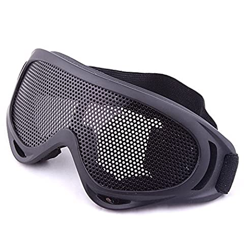 Sijueam Airsoft Metal Mesh Mask Half Face Guard Paintball Mask BB Protection Pinhole Mask for Outdoor Activities, Cycling,