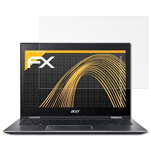 atFolix Panzerfolie kompatibel mit Acer Spin 5 SP513-52 13,3 inch Schutzfolie, entspiegelnde & stoßdämpfende FX Folie (2X)