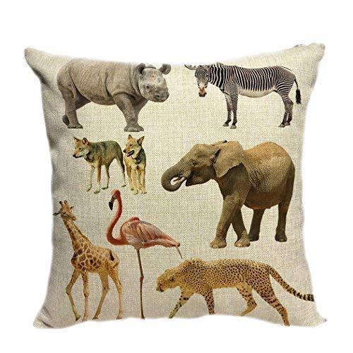 BorisMotley - Funda de cojín Decorativa para sofá, diseño de Elefantes africanos,...