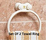 #10: Woogor Wall Mount Suction Towel Ring Holder SET OF 2