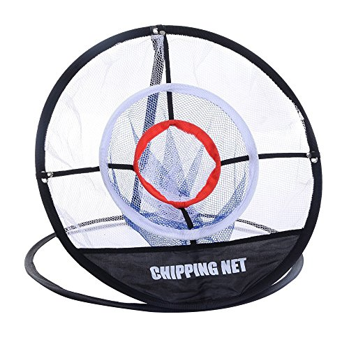 TOMSHOO Portable 20 inch Golf Training Chipping Net Hitting Aid Practice Indoor Outdoor Bag
