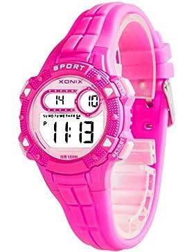 Armbanduhr digital XONIX Damen Kinder viele Funktionen WR100m, A5K67F3/1