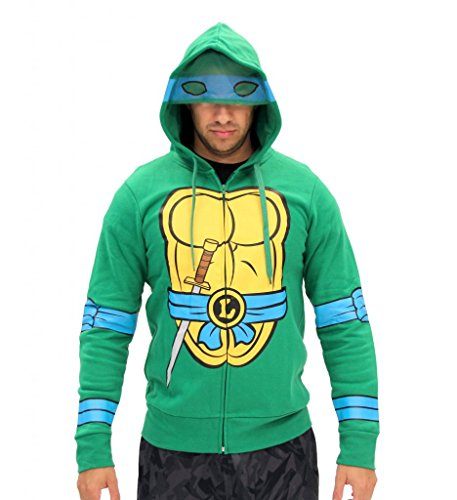 Teenage Mutant Ninja Turtles I Am Leonardo Kostüm Zip Hoodie ()