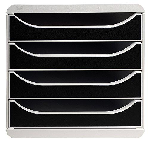multiform-big-box-310014d-schubladenbox-ablagenbox-4-schublden-antistatisch-a4-grau-schwarz