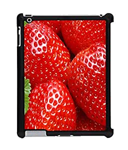 Fuson 2D Printed Strawberry Wallpaper Designer Back Case Cover for Apple iPad 4 - D810