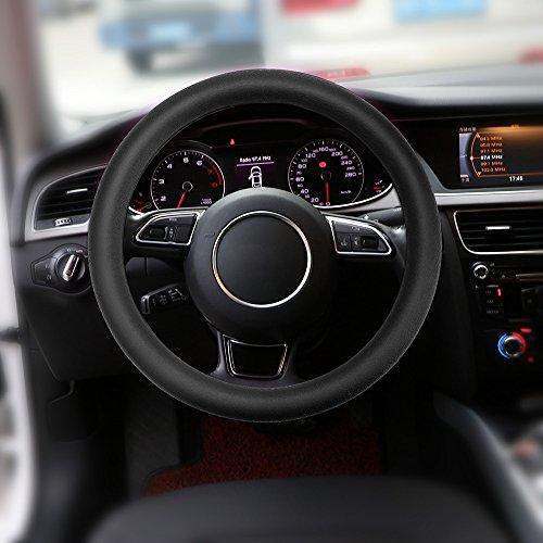 ourleeme Antirutsch Silikon Lenkrad-Bezug ohne Stich für die meisten 36–40cm Cars