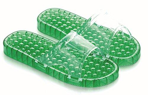Été Perles Perles Cristal Massage Pantoufles Fuites En Plastique Pantoufles Hommes Et Femmes Couple Pantoufles Magasins Dusine,Blue(37) Green(44)