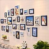 LQQGXL Cornici per foto multiple, cornici per foto, supporti a parete Dotati di 28 cornici di alta qualità, supporti per cornici per foto di grandi dimensioni, Best Wall Mural Cornice per foto