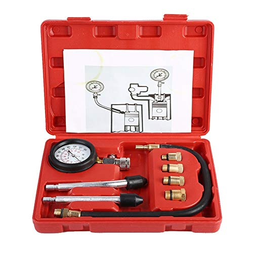 Outbit Kompressionsprüfgerät - 1 Satz Benzinmotor-Kompressionsprüfgerät Auto Benzin-Gasmotorzylinder Kfz-Test-Kit