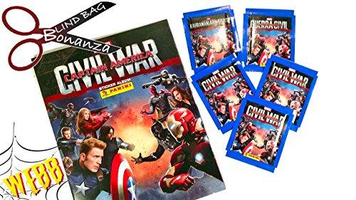 Panini Marvel Captain America Guerre Civile Starter Pack–Album & 31stickers