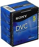 Sony Cassette MiniDV pour caméscope Sans IC Memory Pack de 5 60 mn Qualité Premium 5DVM60PR