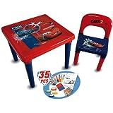 D'Arpèje - Cars - CDIC016 - Loisir créatif - Table + Chaise d'activité avec Set de Coloriage