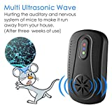 ZOTO Mice Repellent, 3 Different Frequency Ultrasonic Pest Repeller Electronic Mouse Control Indoor/Outdoor without Chemicals (2 Packs)
