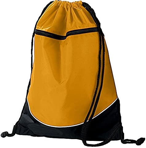 TRI-COLOR DRAWSTRING BACKPACK Augusta Sportswear OS Gold/Black/White by Augusta Sportswear