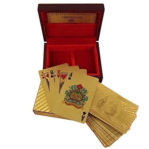 ShalinIndia Spielkarten-Deck in 999,9Gold Folie ungewöhnliches Geschenk aus Indien