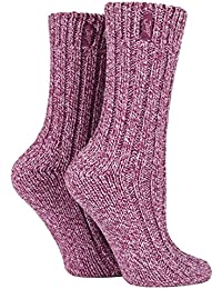 Jeep - 2 Pairs Ladies Thick Warm Wool Hiking Socks for Walking Boots