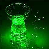 6.6ft 2m AA Batterie betrieben Hochwertige LED-Cooper Draht Flexible Saiten Starry Lichtern für Hochzeit Chrismas Xmas Party Festival Beleuchtung –, mit 20einzelnen LEDs, grün